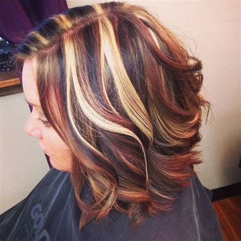 hair colored highlights lowlights