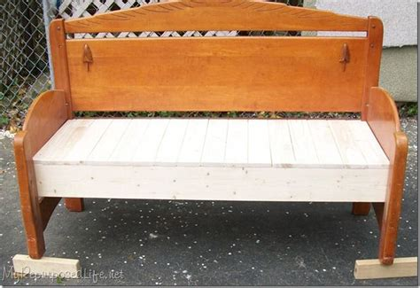 head board benches headboard bench re use pinterest