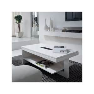 table de salon design relevable laqu 233 blanc