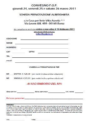 prenotazione albergo v 176 congresso fop roma 2011