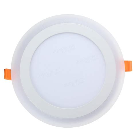 12w rgb dual color led recessed ceiling panel light l ac85 265v sale banggood