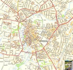 Cambridge England Map by College University Cambridge University College Maps
