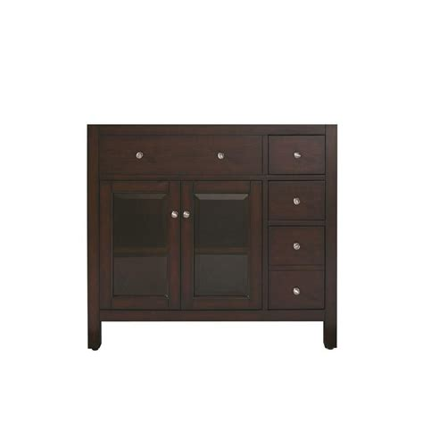 avanity 36 inch vanity cabinet in light espresso