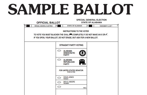 Roy Moore S Laughable Lawsuit Voting Ballot Template