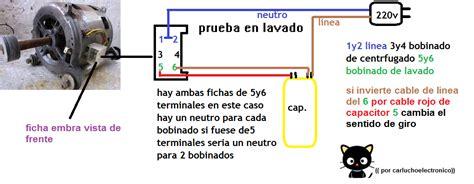 como conectar motor escobillas lavadora directamente a solucionado como conectar motor de lavadora yoreparo