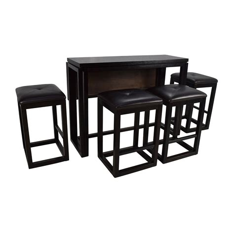 counter height extendable dining table  stools tables