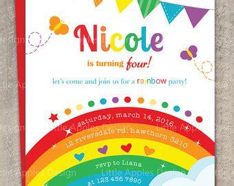 rainbow invitation card template rainbow invitations rainbow invitations by way
