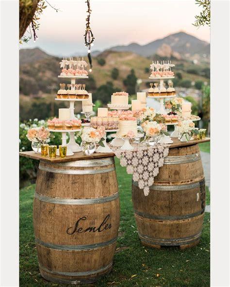 rock n rustic wedding dessert tables displays mon