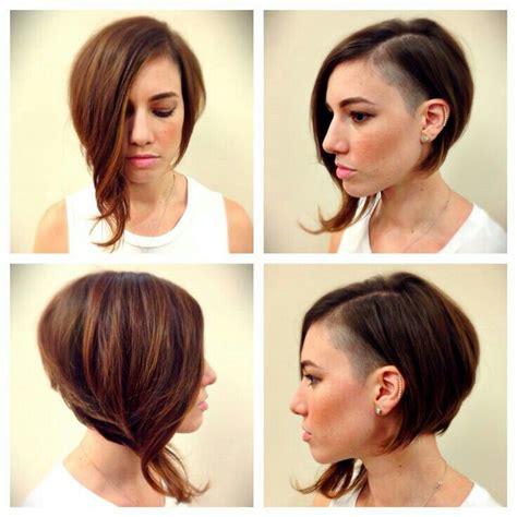 hairstyling bob mit sidecut bob sidecut rapado lateral mujer women sidecut