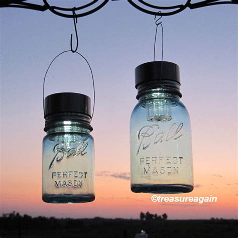 2 Hanging Mason Jar Solar Lights Ball Mason Jars By Jar Solar Light