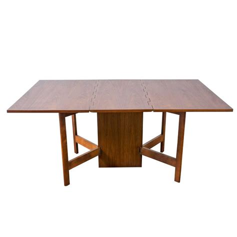 vintage gateleg dining table by george nelson for herman