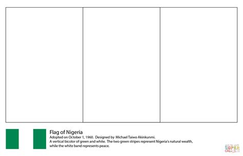 flag of nigeria coloring page free printable coloring pages