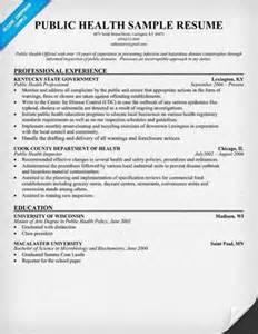 health resume objective