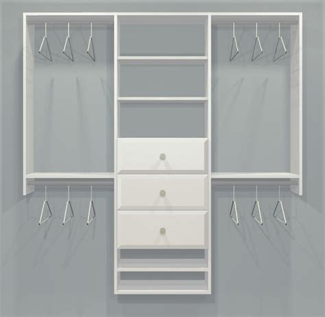 Closet Kits With Drawers by Closet Kit W Drawers 3 Sec 4 7ft Childrens One