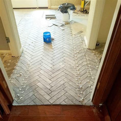 Entry Progress: Herringbone Brick Tile Floors ? House For Six