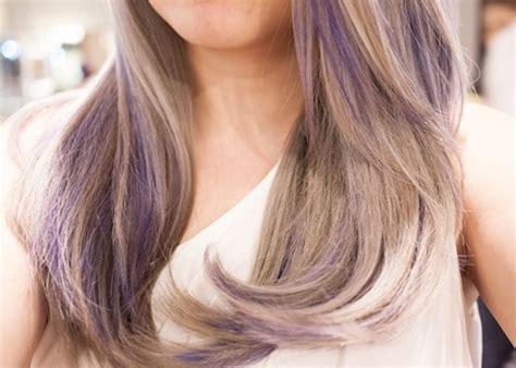 shag haircut brown hair with lavender grey streaks light brown hair with purple highlights hair pinterest
