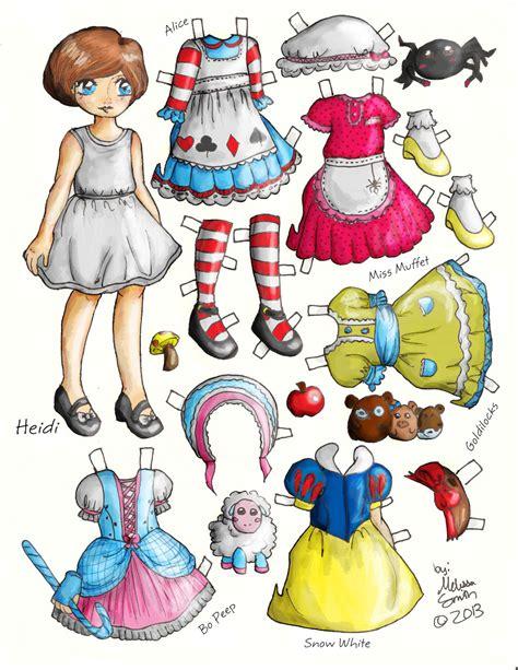 Paper Dolls - miss paper dolls heidi tale style paper doll