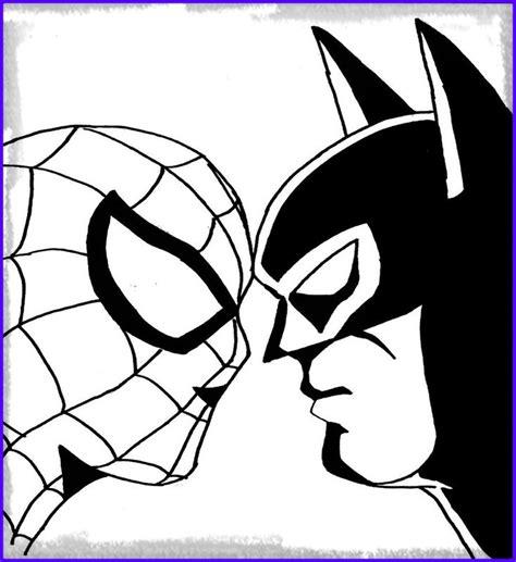 imagenes de spiderman para dibujar faciles dibujos para colorear batman y spiderman archivos