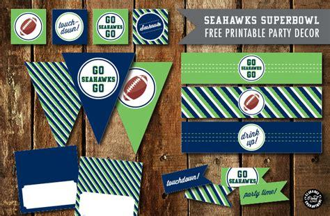 Football Toaster Superbowl Party Printables 2015 Patriots Vs Seahawks