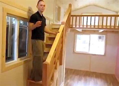 tiny house stairs tiny house with big and safe staircase to loft tiny house pins