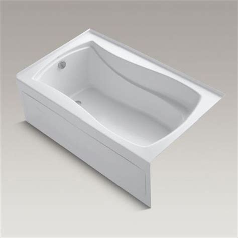 36 x 60 bathtub kohler k 1242 la mariposa 60 x 36 alcove bath tub with
