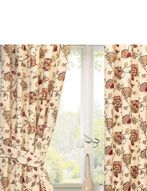 Jacobean Lined Curtains Home Textiles