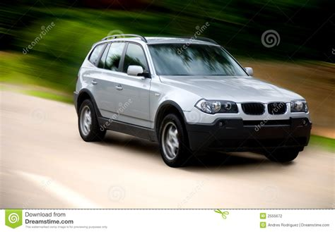 luxury family car luxury family car on a road stock photography image 2555672