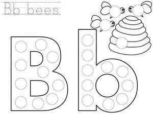 Alphabet Do A Dot Printables &187 Letter B Printable sketch template