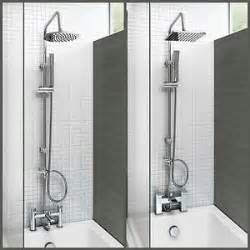 Bath Tap With Shower Head Bath Shower Mixer Thermostatic Valve Tap Dual Square Head