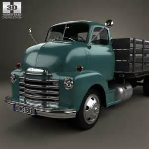 Chevrolet Small Truck Models Chevrolet Coe Flatbed Truck 1948 3d Model Humster3d