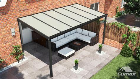 veranda 6 meter breed klassieke terrasoverkapping in mat antraciet 6 06 x 2
