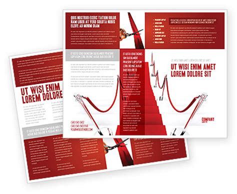 red carpet path brochure template design and layout