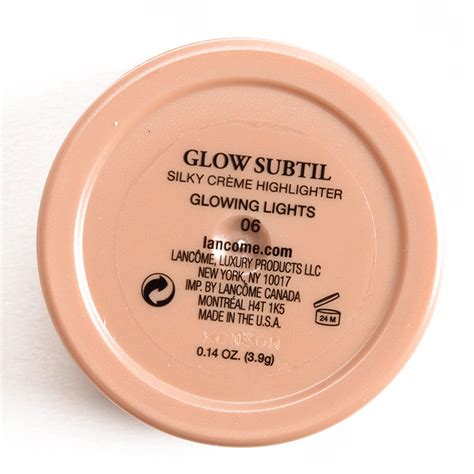 Lancome Highlighter lancome glowing lights glow subtil silky creme highlighter