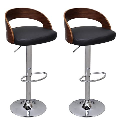 Stool With Backrest by 2 Pcs Bentwood Bar Stool With Backrest Height Adjustable