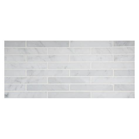tile pattern staggered staggered stripes mosaic tile polished bianco carrara marble
