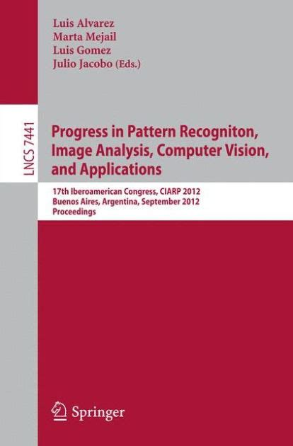 pattern recognition in image analysis progress in pattern recognition image analysis computer