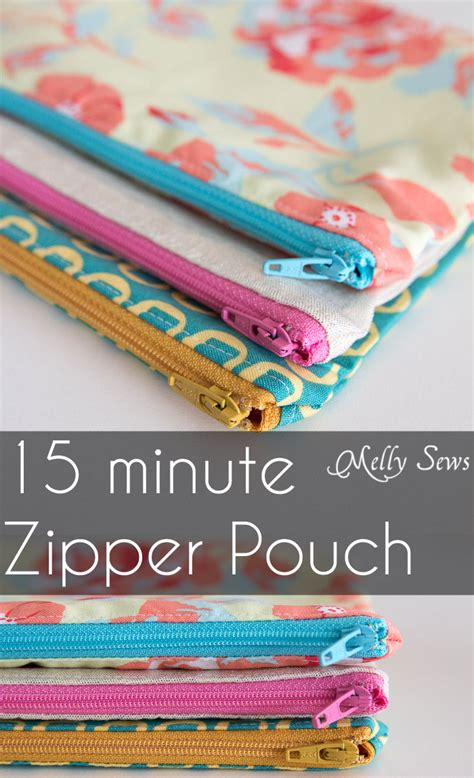 free pattern lined zippered pouch how to sew a zipper pouch tutorial melly sews