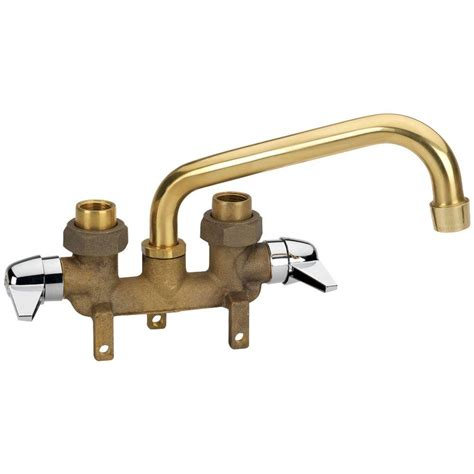 Laundry Room Sink Faucets Homewerks Worldwide 2 Handle Laundry Tray Faucet In Brass 3310 250 Rb B The Home Depot