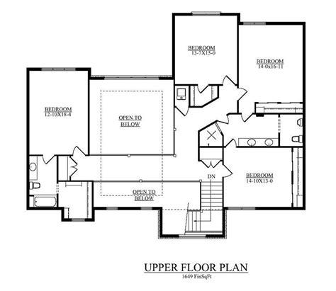 upstairs floor plans floor plan second story open to below all bedrooms