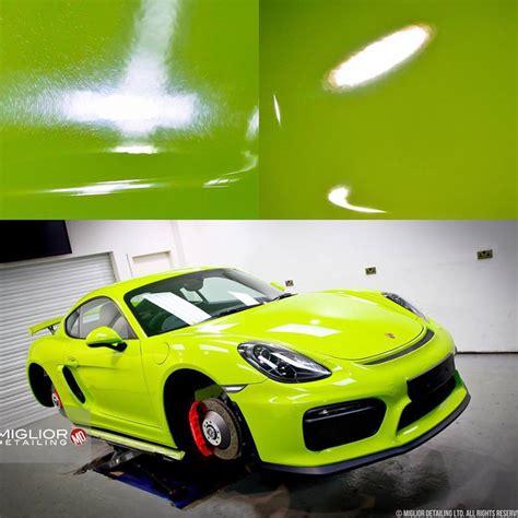 porsche cayman green acid green porsche cayman gt4 gets full detailing the