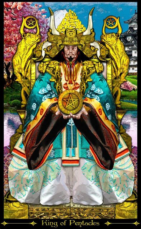 king and of illuminati king of pentacles from the tarot illuminati by erik c