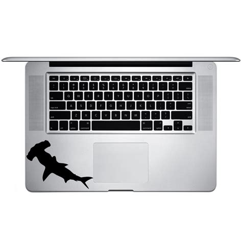baby shark keyboard hammerhead shark silhouette vinyl sticker laptop keyboard