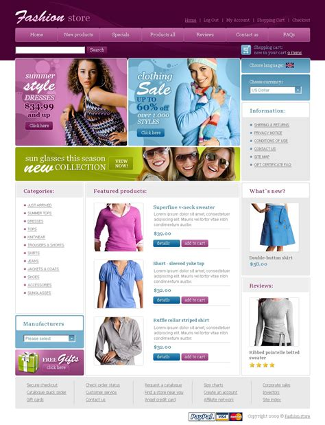 Fashion Store Website Template 23602 Fashion Store Website Templates