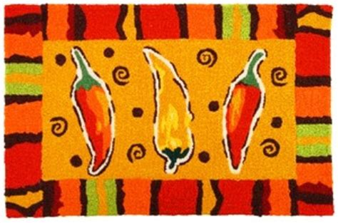 Chili Pepper Kitchen Rugs Chili Pepper Accent Jellybean 21 X 33 Inch Area Rug Ebay