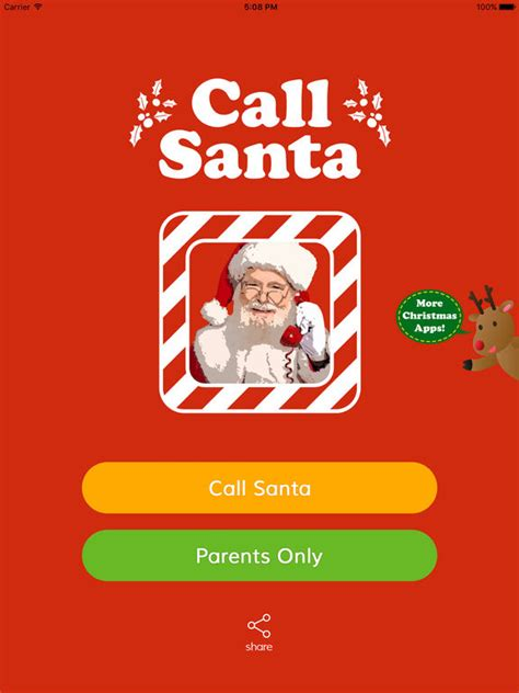 call santa call santa claus parents catch wish on the app