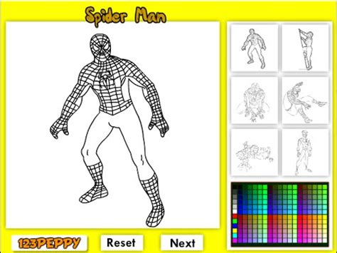 spiderman coloring pages games play spiderman coloring pages for kids spiderman coloring