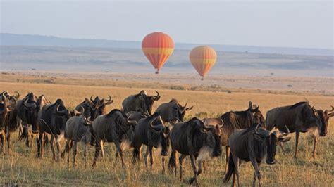 Safitri Syari air balloon flight serengeti national park andbeyond
