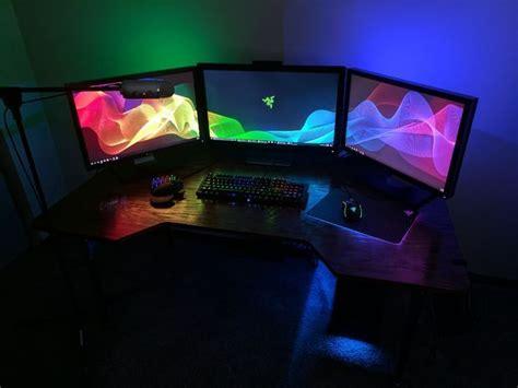 best gaming desk for 3 monitors best 25 custom gaming desk ideas on custom pc