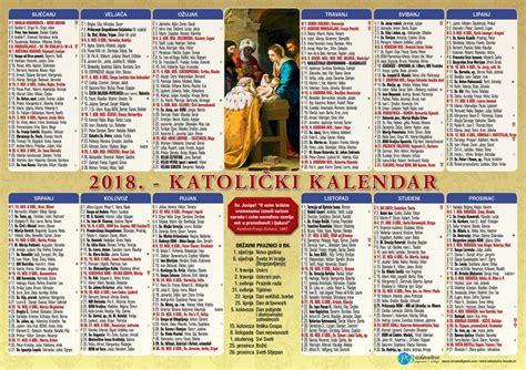 Verski Kalendar 2018 April Verski Kalendar 2018 Katolicki 9 Images Jednolisni