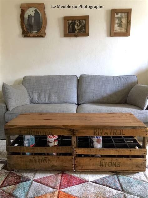 table caisse en bois table basse banc caisses en bois le meuble du photographe
